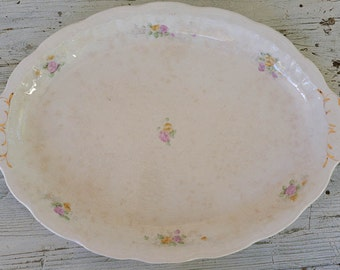 Large Serving Platter, Very Old China Platter