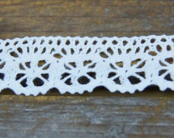 "Cotton Lace Edging 1"" wide and White"