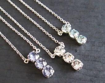 Light Azore Swarovski Jewelry/Provence Lavender Bridesmaid Jewelry/Light Azore Swarovski Necklace/Swarovski Crystal Bridesmaid Necklace