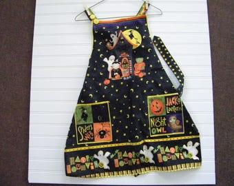 Halloween apron, women's apron