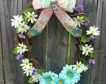 Spring/Summer Daisy Wreath