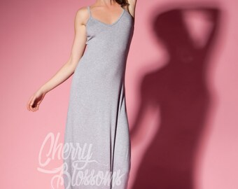 Grey casual dress/ Maxi Dress/ Long dress/ Spring dress/ Summer Dress/ Casual dress/ Day dress/ Plus size dress/ Plus size clothing