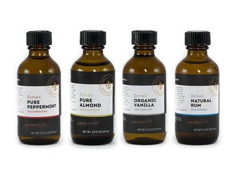 Baking Extracts – Baking Gifts Set of 4 Organic Extract Flavors