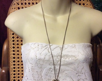 Vintage silver heart pendant with silver wire wrap necklace.