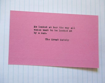 F. Scott Fitzgerald Hand typed vintage typewriter quote