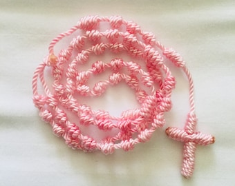 Cord Rosary - Light Pink