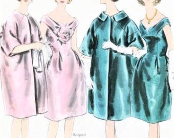 60s ELEGANT Lanvin Castillo Evening Dress and Coat Pattern VOGUE Paris 1082 Bust 31 Vintage Sewing Pattern UNCUT +Label