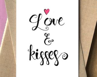 Valentines love card