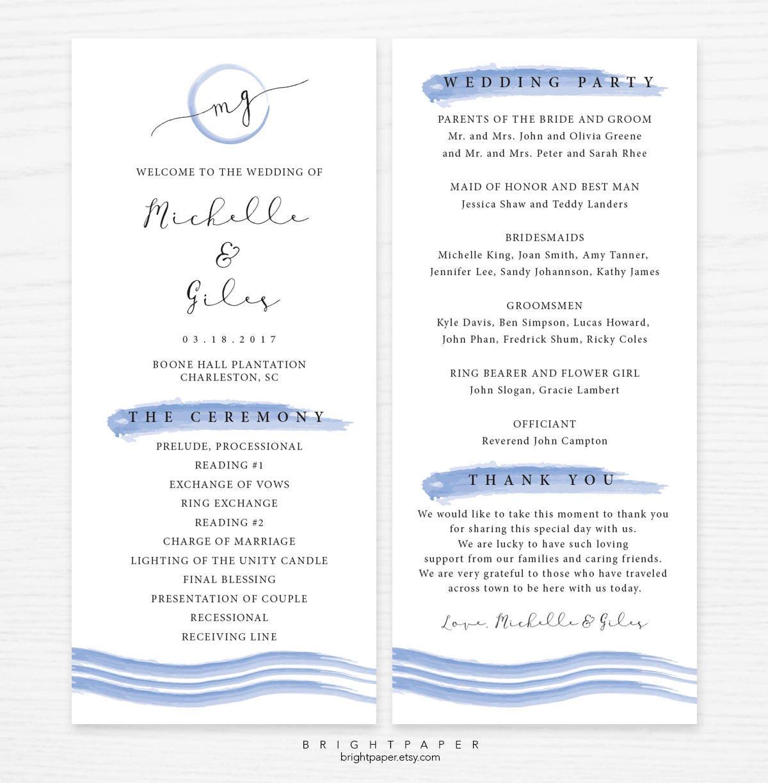 Beste Hochzeitsprogramm Vorlage Wort Ideen - Entry Level Resume ...