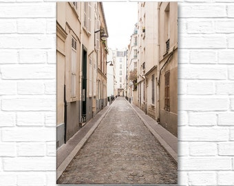Paris Photography on Canvas - Passage Jean Nicot, Gallery Wrapped Canvas, Classic Paris Architecture,  Large Wall Art, Paris street