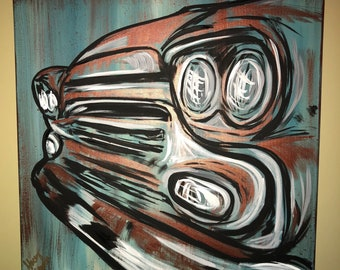 Okd pickup truck  Canvas Painting