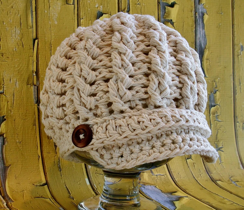 Crochet Newsboy Hat Pattern, Cabled Newsboy Hat Pattern, Toddler ...