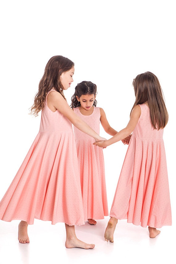 Vestidos de las muchachas vestido del resorte vestido de