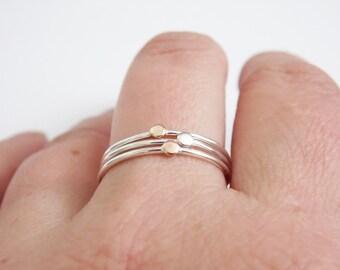 Stacking Ring Rose Gold Silver