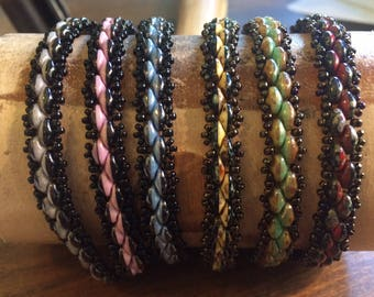 Tutorial for Demure Duo Duets Bracelet - Single OR Wrap style