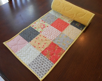 Spring Patchwork Quilted Table Runner Giant Hotpad