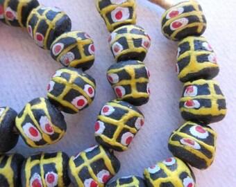 Krobo Glass Beads (12x11mm) [63041]