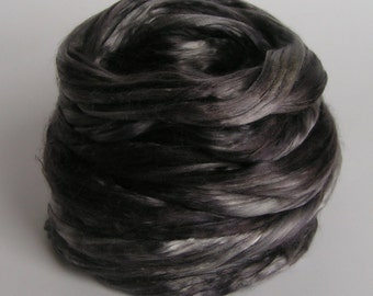 Silk Top Roving Sliver Cultivated Mulberry SHADES of GRAY Supreme Luxurious Fine Quality Handspinning Felt Craft Fusion 2 oz halloween