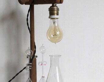 Lamp base chemistry glassware vintage