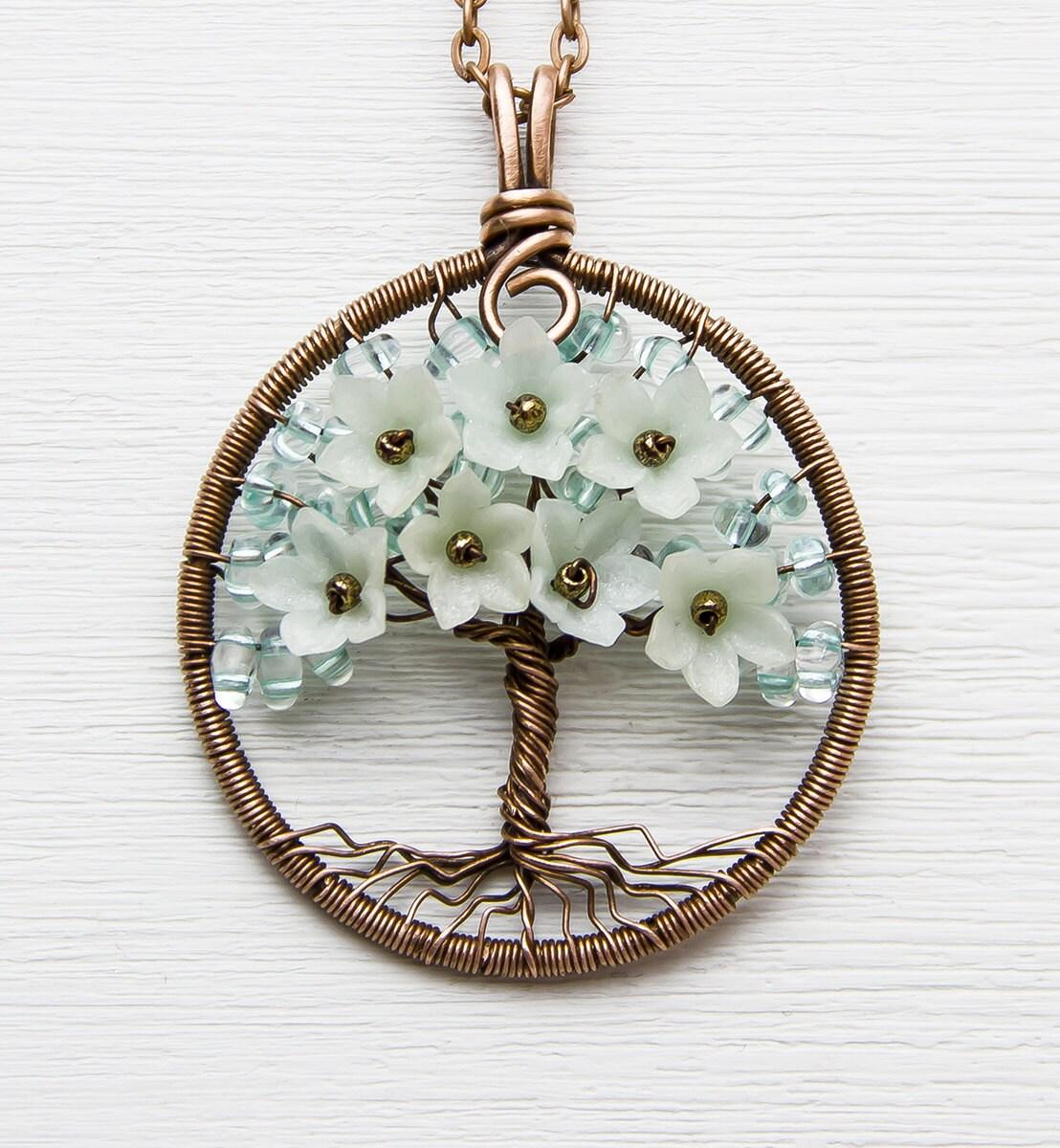 Baum des Lebens Halskette 16 Kupfer Draht gewickelt