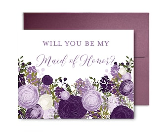 Will You Be My Bridesmaid Card Bridesmaid Cards Ask Bridesmaid Bridesmaid Maid of Honor Gift Matron of Honor Flower Girl #CL147