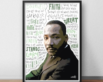 Martin Luther King / MLK quote print / poster hand drawn type / typography