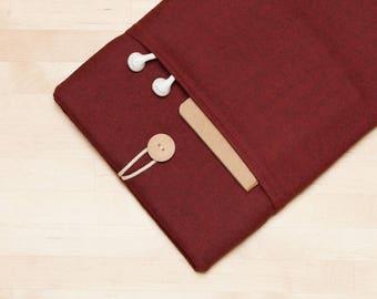 Surface Pro 4 sleeve, Microsoft Surface Pro case, Surface Book Case, Surface 3 Case, padded with pockets - Maroon