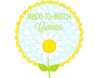 Made-to-Match Window Curtains (Two Panels) - Bedroom Drapes - Custom Kids' Curtains