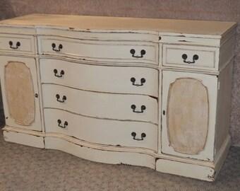 Vintage Mahogany Shabby Traditional Style Sideboard