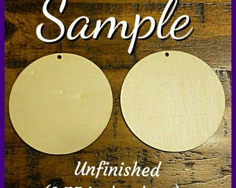Round Wooden Earrings (2.75 in)- Design It Your Way (DIYW)- Qty :1