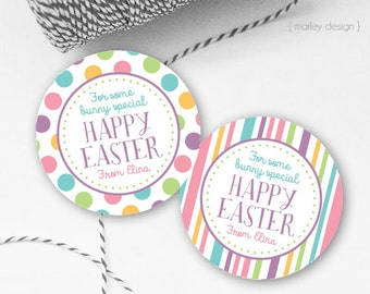 Easter favor tags etsy easter tags printable easter favor tags easter gift tags happy easter tags personalized customized easter printables negle Choice Image