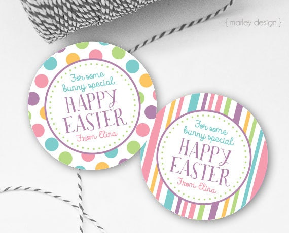 Easter tags printable easter favor tags easter gift tags happy easter tags printable easter favor tags easter gift tags happy easter tags personalized customized easter printables digital easter tags negle Images