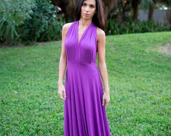 Convertible Dress/Infinity Dress/Maxi Dress/ Purple Infinity Dress/Made to Order