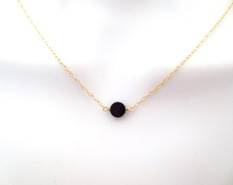 Tiny, Onyx, Gold, Silver, Rose gold, Karma, Circle, Necklace, Lovers, Friends, Mom, Sister, Gift
