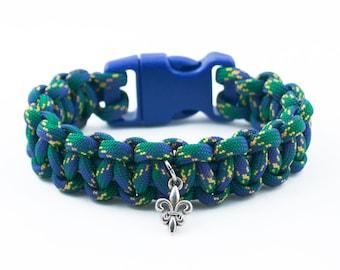 French Lily Bracelet, Mardi Gras Bracelet, French Bracelet, Elegant, Fleur De Lis, Floral Accessory, Flower Bracelet, French Quarter