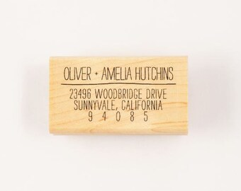 custom self-inking scribble address stamp