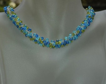 Kimadirose Swarovski Crystal Cluster Necklace Bracelet & Earrings