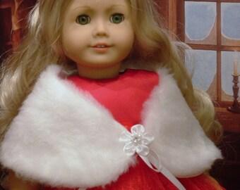 White Fur Stole for American Girl Dolls