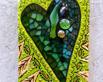 """Leafy Green HeArt 4×6×1/2"""""""