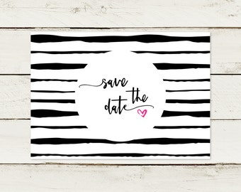 Save the date card. Strip