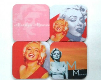 Set Of Four Rubber Marilyn Monroe Coasters, Drink Coasters, Icon, Marilyn Monroe, Made By Mod.