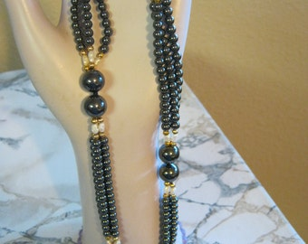 Hemetite Pearls And Gold Filled Necklace