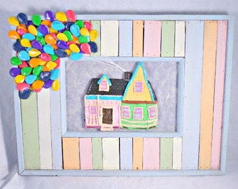 Balloon, Balloon house, balloon Art, UP,  Frame, Decor