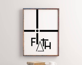 Faith Sign Printable, Faith Prints, Home Decor Printable Wall Art, 16x20  Poster,