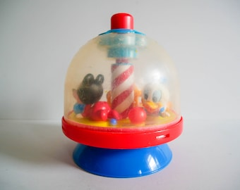 Vintage Disney Press And Spin Toy