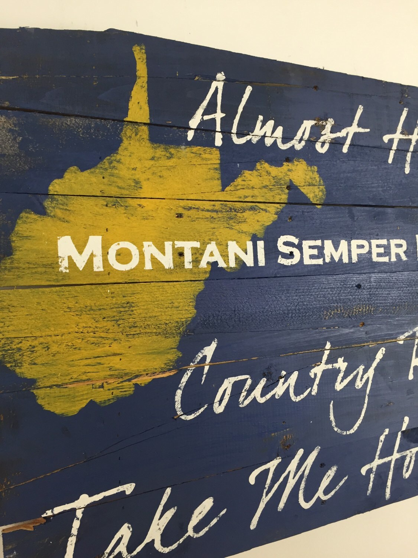 State Pride West Virginia John Denver Lyrics Wall Hanging 24L x 36W ...