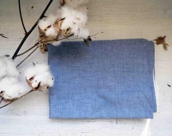 Denim Blue Lightweight Cotton Chambray 114cm wide x 1.5meters
