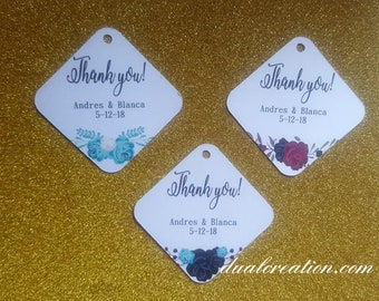 thank you tags/wedding/gift tags/favor/personalize