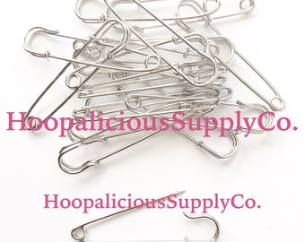 50mm Large Safety Pins. Jumbo Kilt Pins. You Choose Quantity. Safety Pin Movement. Be a safe place for others.  FAST SHIPPING for US Buyers