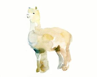 LAMA- 10x8inch  print-Children's Decor-Art for Children-kids wall art-Nursery art -Animal lover